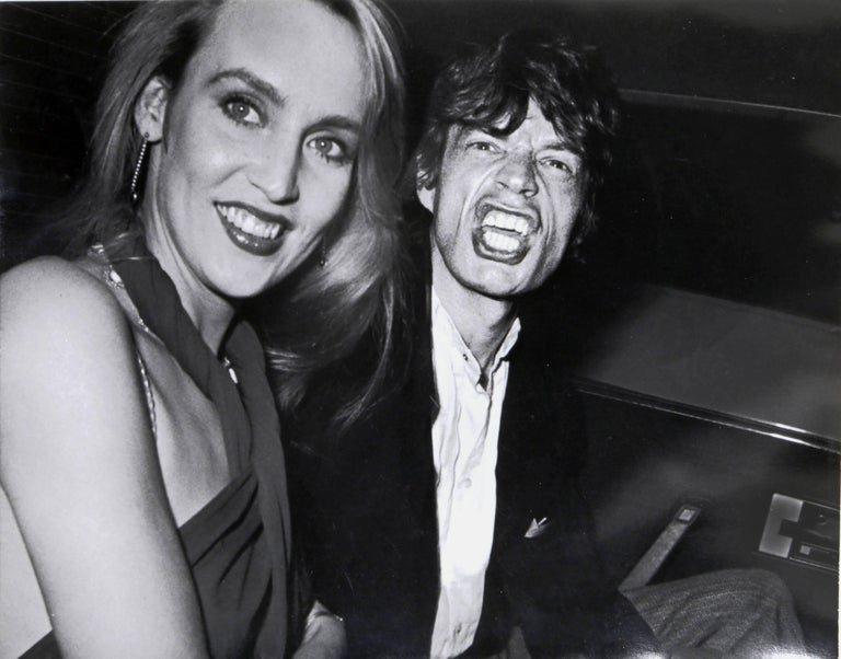 Artist: Ron Galella, American (1931 - ) Title: Limelight - Mick Jagger and Jerry Hall Year: 1984  Published: 2009 Medium: Gelatin Silver Print, signed and numbered in pencil verso Edition: 25 Size: 8 x 10 in. (20.32 x 25.4 cm)
