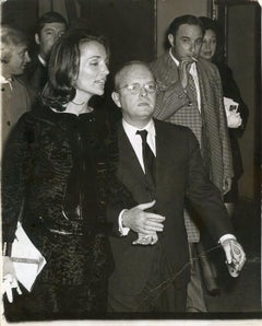 Truman Capote and Lee Radziwill - Vintage Photo by Ron Galella - 1969