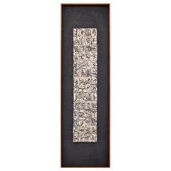 Ron Hitchins Original Art Work circa 1960s, Framed Ceramic Tile Relief