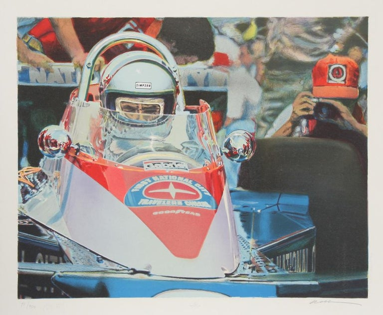 Ron Kleeman Figurative Print - Indy Car