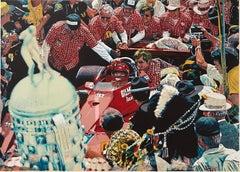 Winner Circle Auto Racing Print Pop Art Photo Realist Screenprint Ron Kleemann
