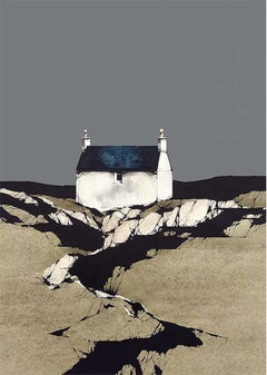 Vatersay Cottage - Signed, Limited Edition Print, Landscape by Ron Lawson