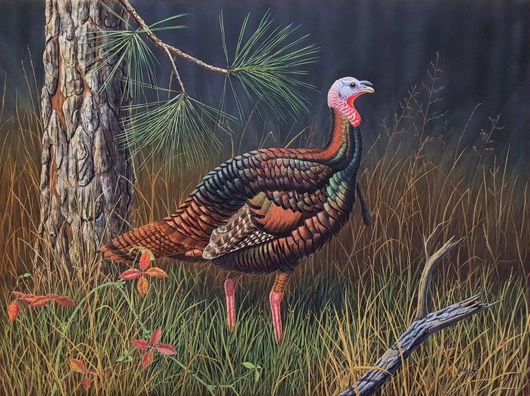 Ron Louque Animal Painting - Eastern Wild Turkey