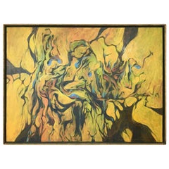"Ron Ownbey ""Untitled"" Large Abstract Impressionist Oil Painting, 1962"