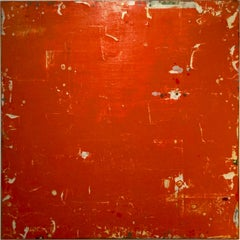 Ambassador by Ron Piller  Mid-century Orange, Red Abstract Contemporary