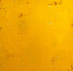 Like the Will-O The-Wisp by Ron Piller -Mid-century Yellow Abstract Contemporary