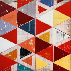 The Perfect Manifastation - Ron Piller Mid-century Striped Abstract Contemporary