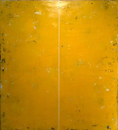 Unable to Speak by Ron Piller  Mid-century Stlye Yellow Abstract Contemporary