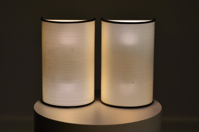 Ron Rezek Vintage Pair of Perforated Metal Sconces For Sale 3