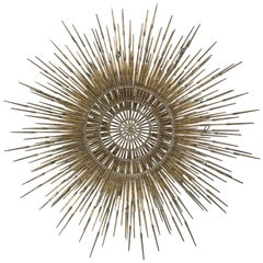 Ron Schmidt Large Brutalist Sunburst with Starburst Nail Art Wall Sculpture