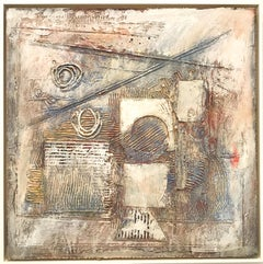 "Ronald Ahlstrom ""Untitled IV"", mixed media on board"