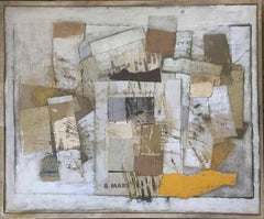 ABSTRACT WITH BEIGE AND YELLOW