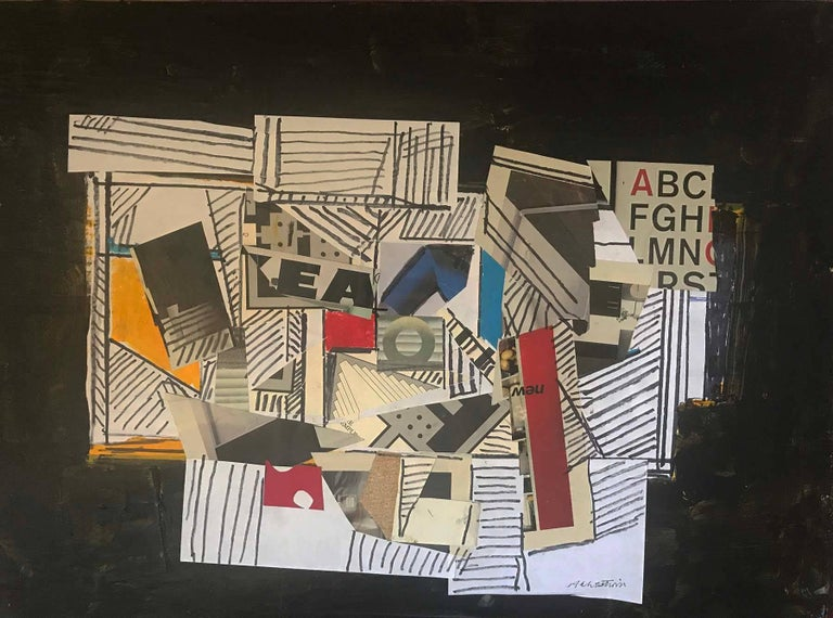 Abstract with Text - Painting by Ronald Ahlstrom