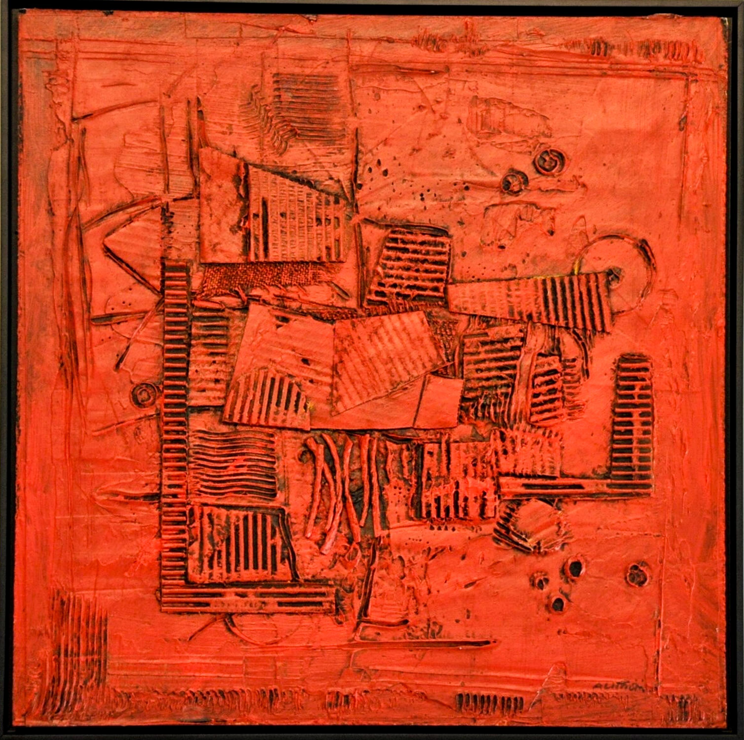 "Ronald Ahlstrom ""Untitled III"", mixed media on board"