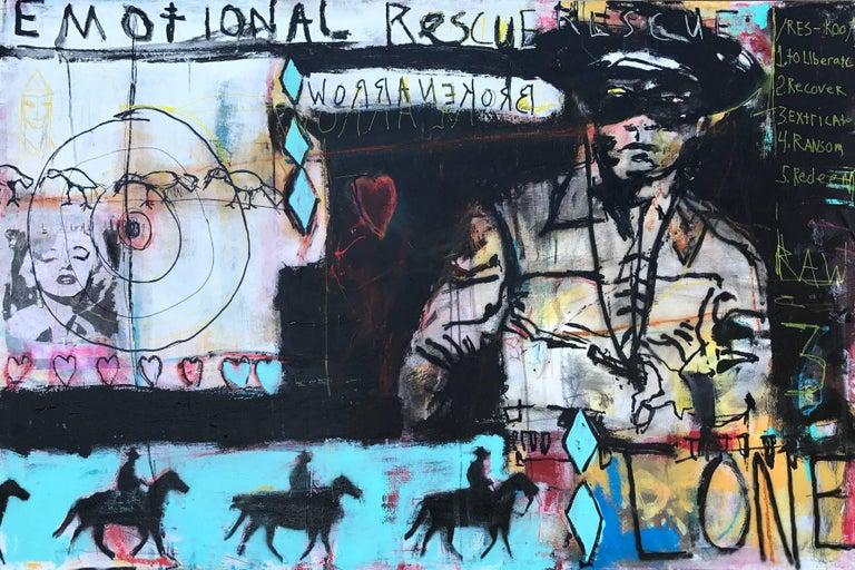 Ronald Allen (Wick) Wickersham Mixed Media Art - Broken Arrow / The Lone Ranger