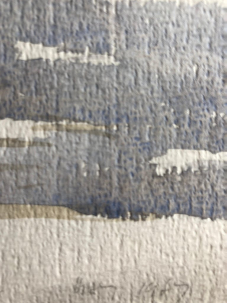 Densham Hill Pool, original British watercolour painting - Gray Landscape Painting by Ronald Birch