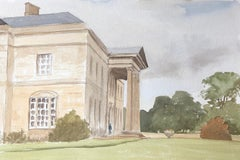 Dinton, Stately Home in England, original British watercolour painting