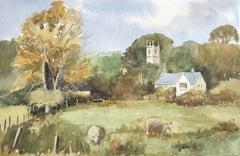 Fisherton, original British watercolour painting