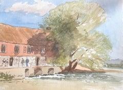 Harnham Mill, original British watercolour painting