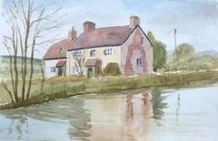 Honey Street, original British watercolour painting