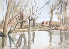 Kinsham, original British watercolour painting