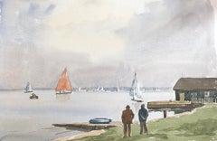 Merky Sky, signed original British watercolour painting