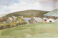 Old Farm Buildings at Carrog, original British watercolour painting