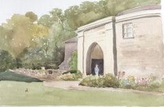 Phillips House, British Stately home original British watercolour painting