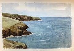 Port Isaac Cornwall, original British watercolour painting