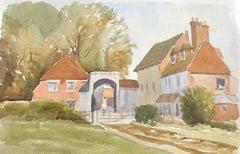 Salisbury with Arch, original British watercolour painting