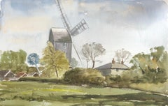 Saxshead Mill Waterford, original British watercolour painting