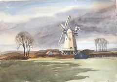 Shipley Mill, signed original British watercolour painting