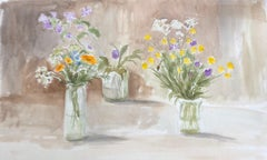 Summer Flowers original British watercolour painting
