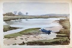 The Causeway Fresh Water, signed original British watercolour painting