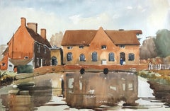 Trafford Mill, original British watercolour painting