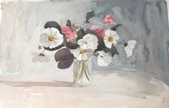 Vase of Flowers, original British watercolour painting