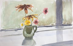 Vase of Flowers, original British watercolour painting