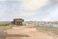 Walberswick Suffolk signed original British watercolour painting