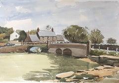 Wootton Bridge Low, original British watercolour painting