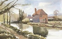 Wylye, original British watercolour painting