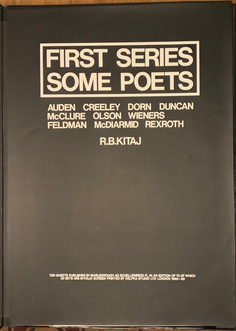 FIRST SERIES - SOME POETS.  For Sale 7