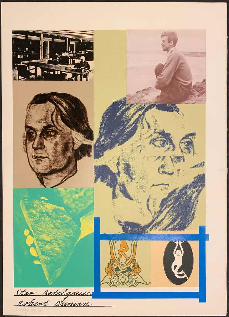 Kitaj, R. B. FIRST SERIES - SOME POETS. Marlborough AG, Schellenburg, FL, 1970. Number 69 of the edition of 70 (there were about 15 additional proofs for the Artist, the Printer, and hors Commerce). Very large folio (31 x 23 inches) black