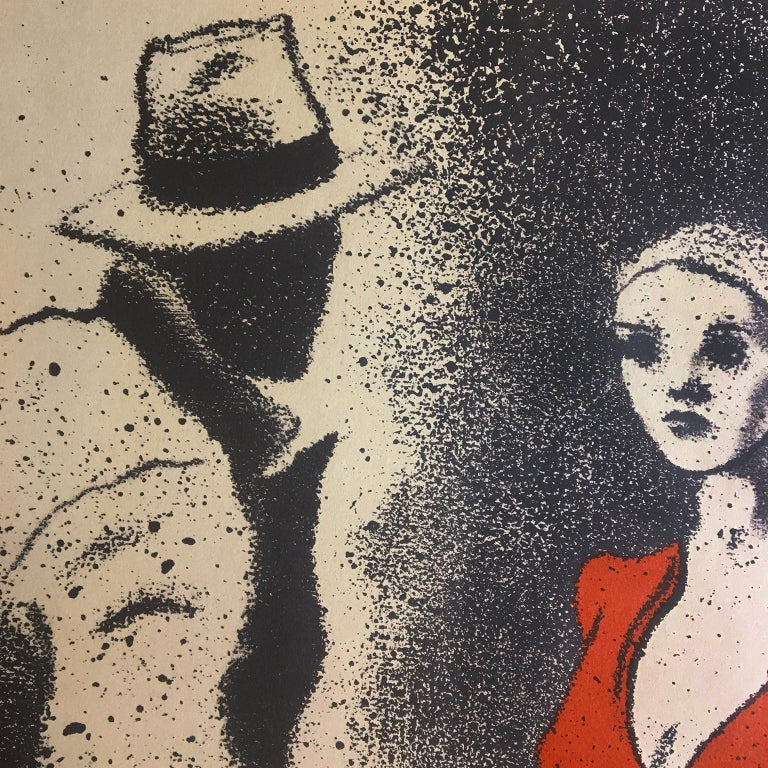 Vintage SIGNED Kitaj Poster, La Fabbrica, Milan (A Life 1975) woman in red dress For Sale 1