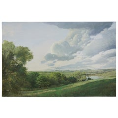 Ronald E. Renmark Commissioned Landscape Oil Painting Summer in Virginia