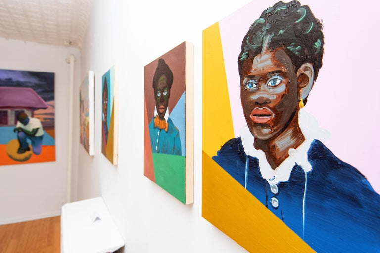 Ground Floor Gallery is thrilled to present new portraiture by artist Ronald Hall which debuted in March 2019 as part of his first solo exhibition in New York City,