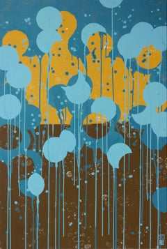 Blue Pop Colors, Painting, Acrylic on Canvas