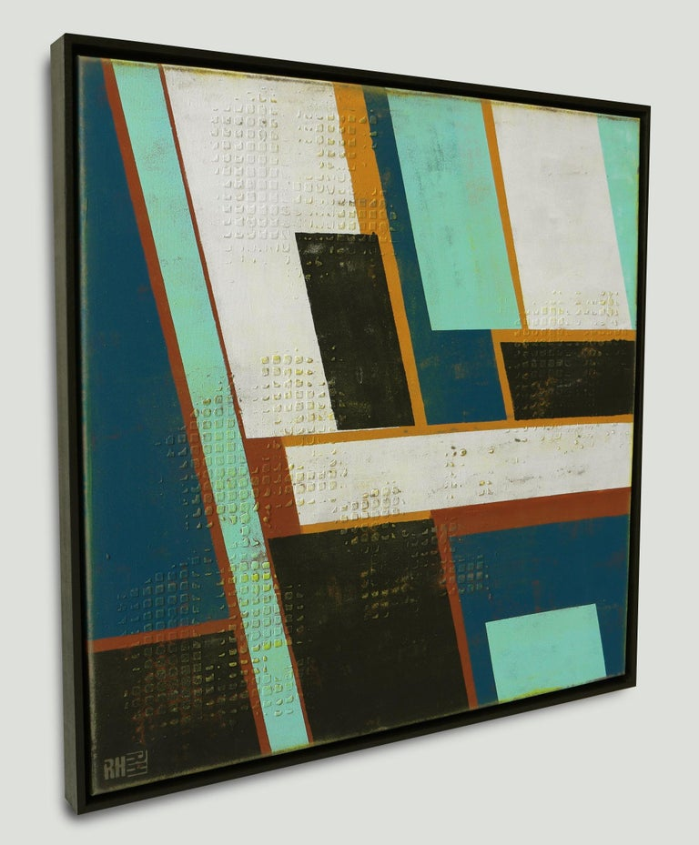 High Rise Mint - Incl Frame, Painting, Acrylic on Canvas For Sale 1