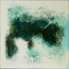 Islands Blue Turquoise - Incl Frame, Painting, Acrylic on Canvas