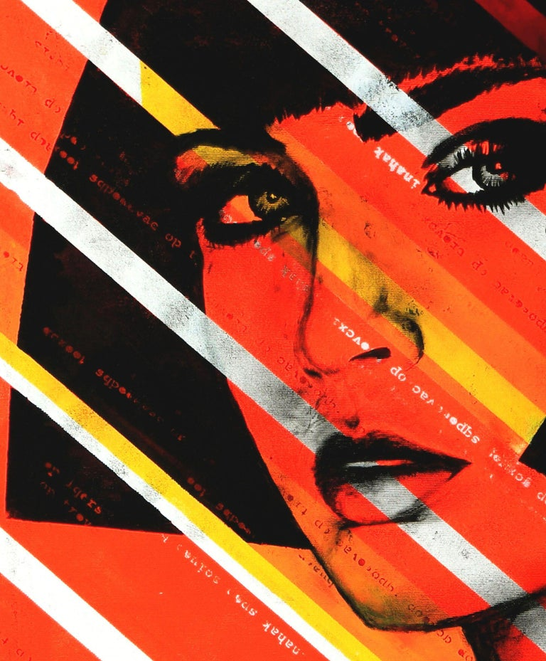 Lady Orange, Painting, Acrylic on Canvas 2