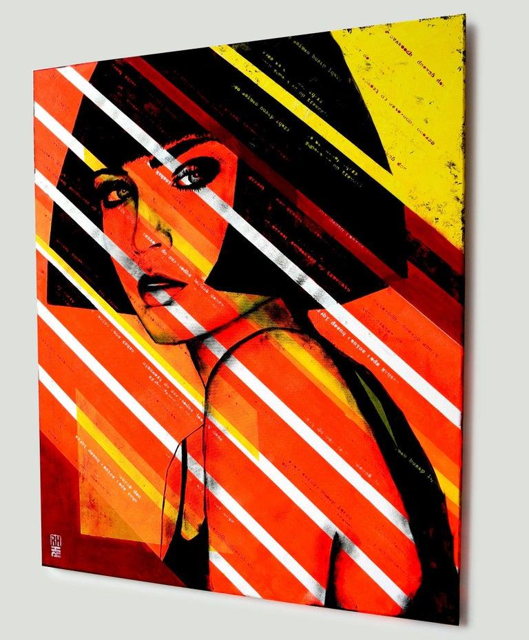 Lady Orange, Painting, Acrylic on Canvas 4